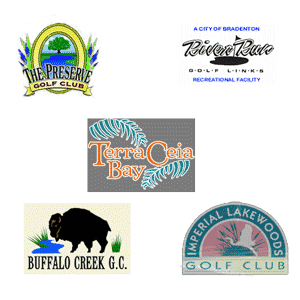 Winterset RV Resort golf logos